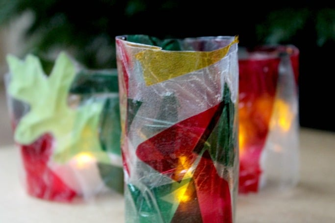 kids stained glass lantern