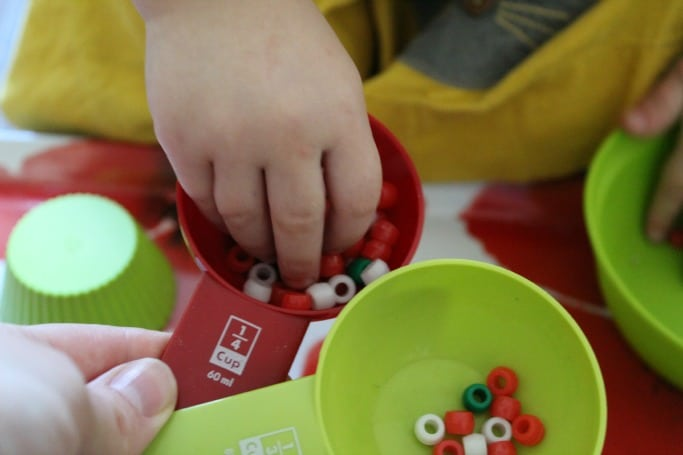 toddler christmas bead activity