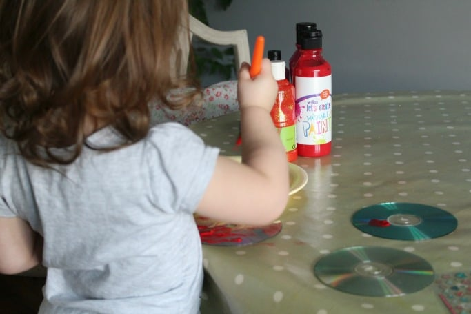 CD Valentines Day Craft for Preschoolers