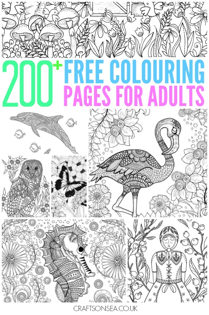 200+ Gorgeous Free Colouring Pages For Adults - Crafts On Sea