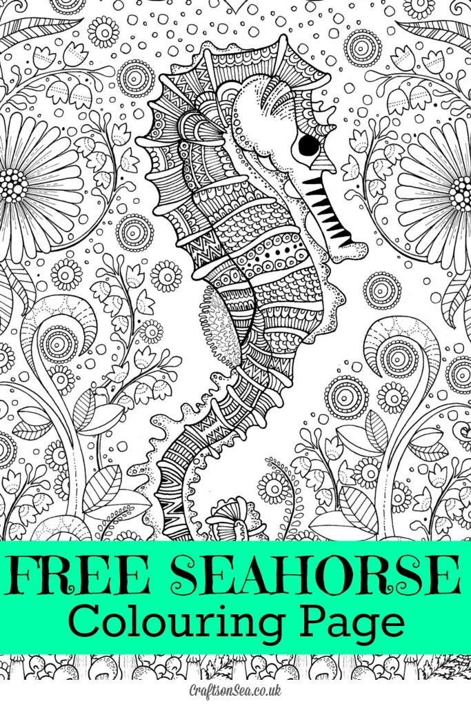 baby seahorses coloring pages - photo#46