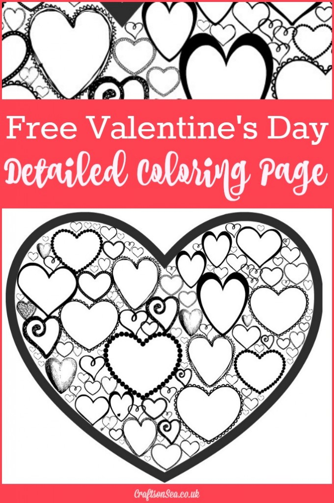 Free Valentines Day Colouring Page for Adults