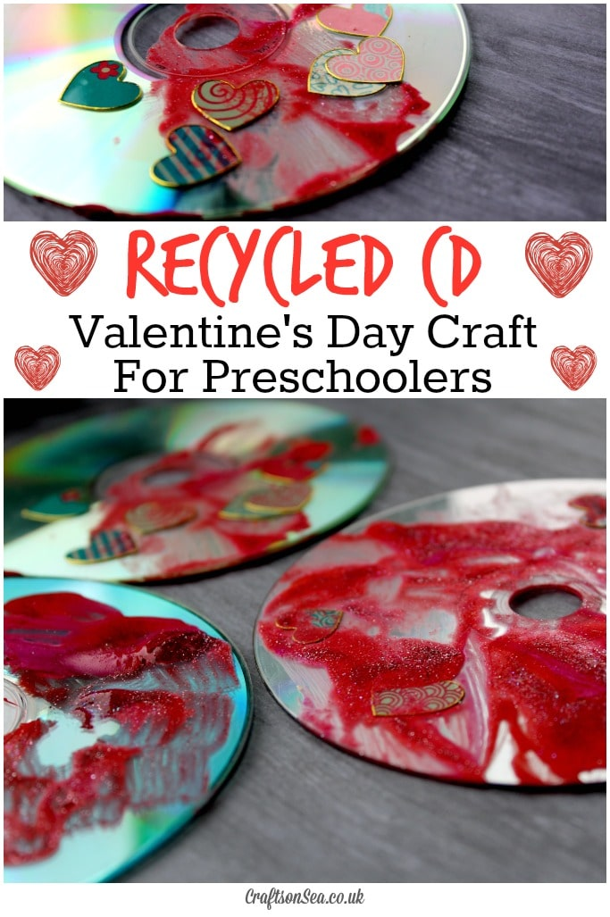 Recycled Cd Valentines Day Craft For Preschoolers Crafts On Sea