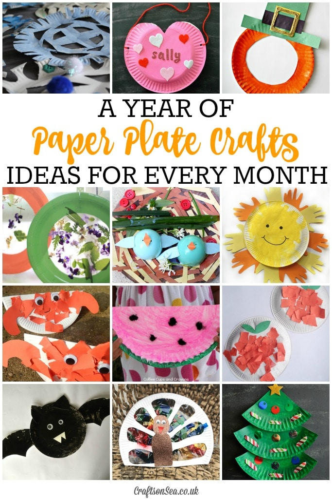 Seasonal paper plate crafts for every month crafts on sea for Craft of the month