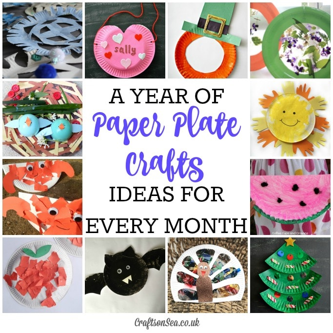 Seasonal Paper Plate Crafts for kids for Every Month