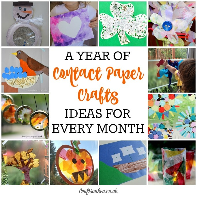 contact paper crafts for every month