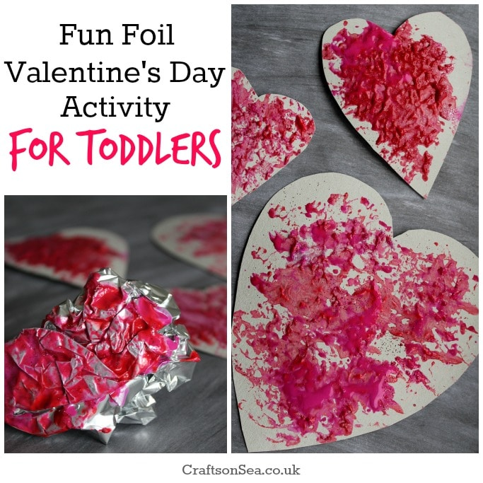foil valentines day activity for toddlers