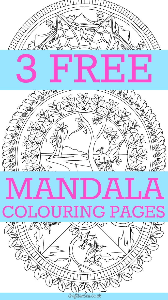 free mandala colouring pages for adults crafts on sea