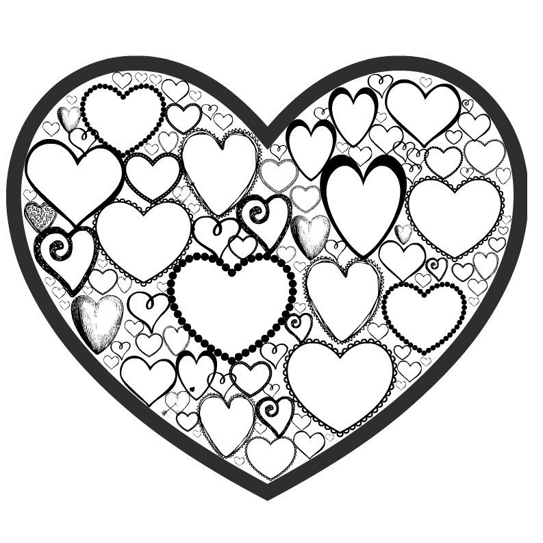 Free Valentines Day Colouring Page for Adults Crafts on Sea