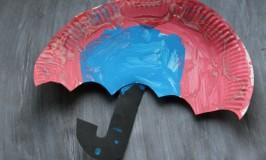 kids paper plate umbrella craft