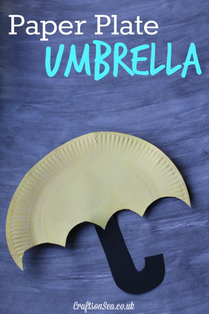 paper plate umbrella craft for kids