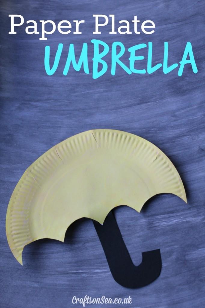 paper plate umbrella craft for kids
