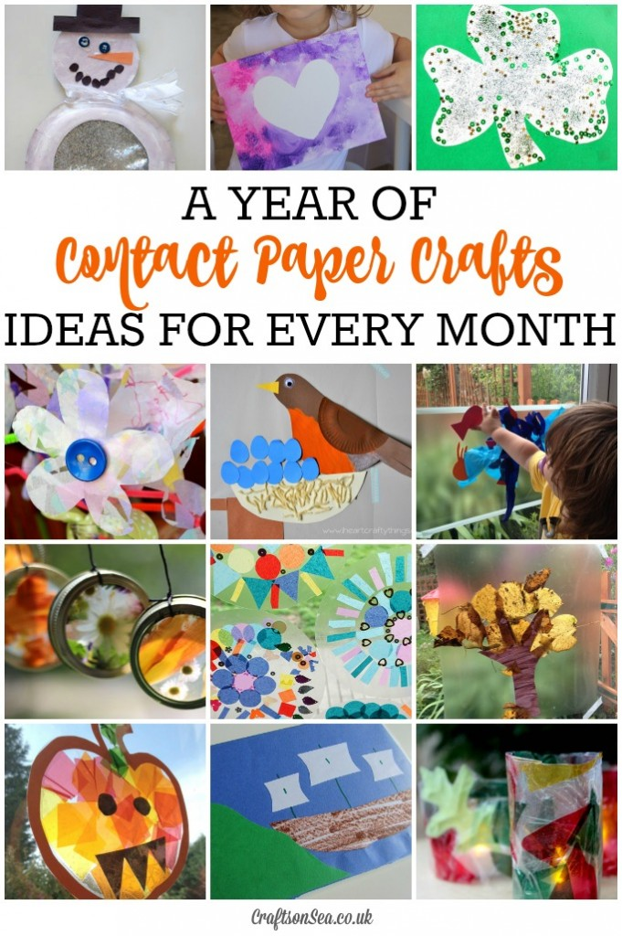 seasonal contact paper crafts for every month