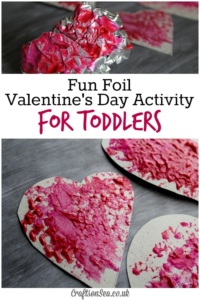 Foil valentines day activity for toddlers crafts on sea for Valentines day toddler crafts