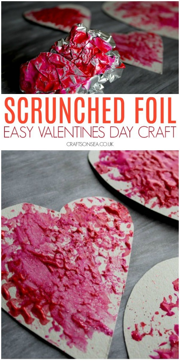 valentines day craft for toddlers easy heart art #valentinesday #kidscrafts