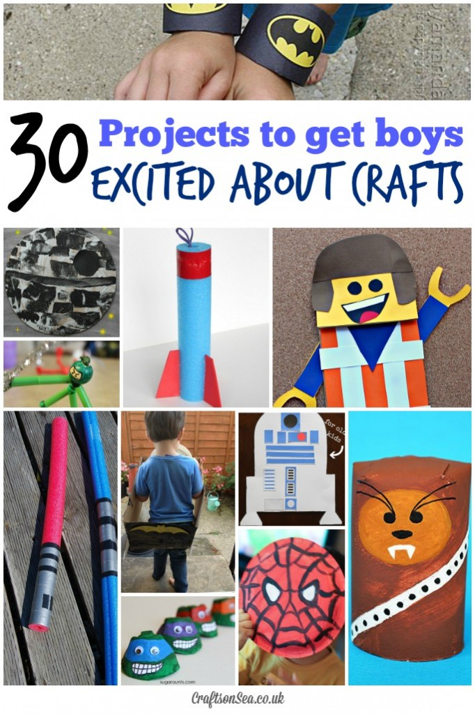 30 cool craft ideas for boys crafts on sea for Boys arts and crafts