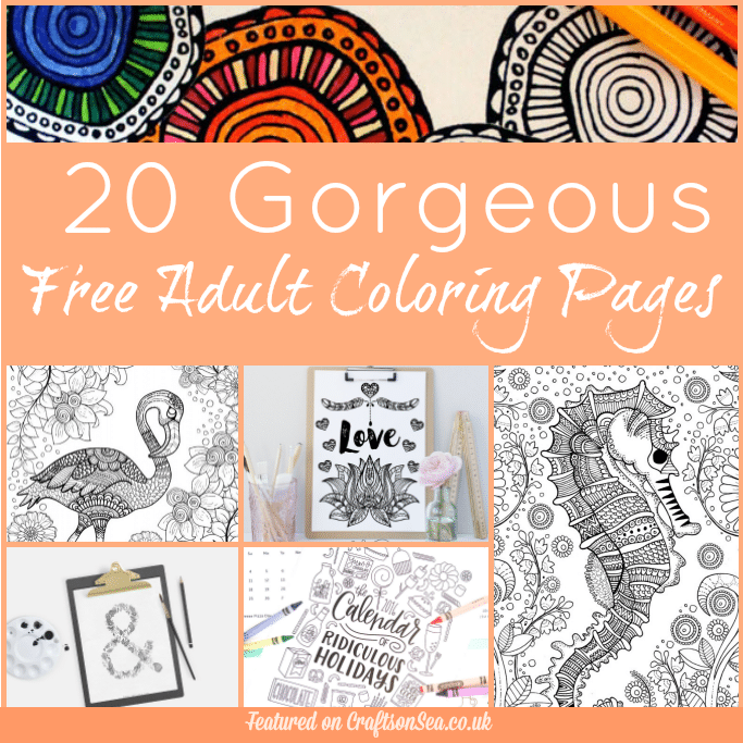 free adult coloring pages to download