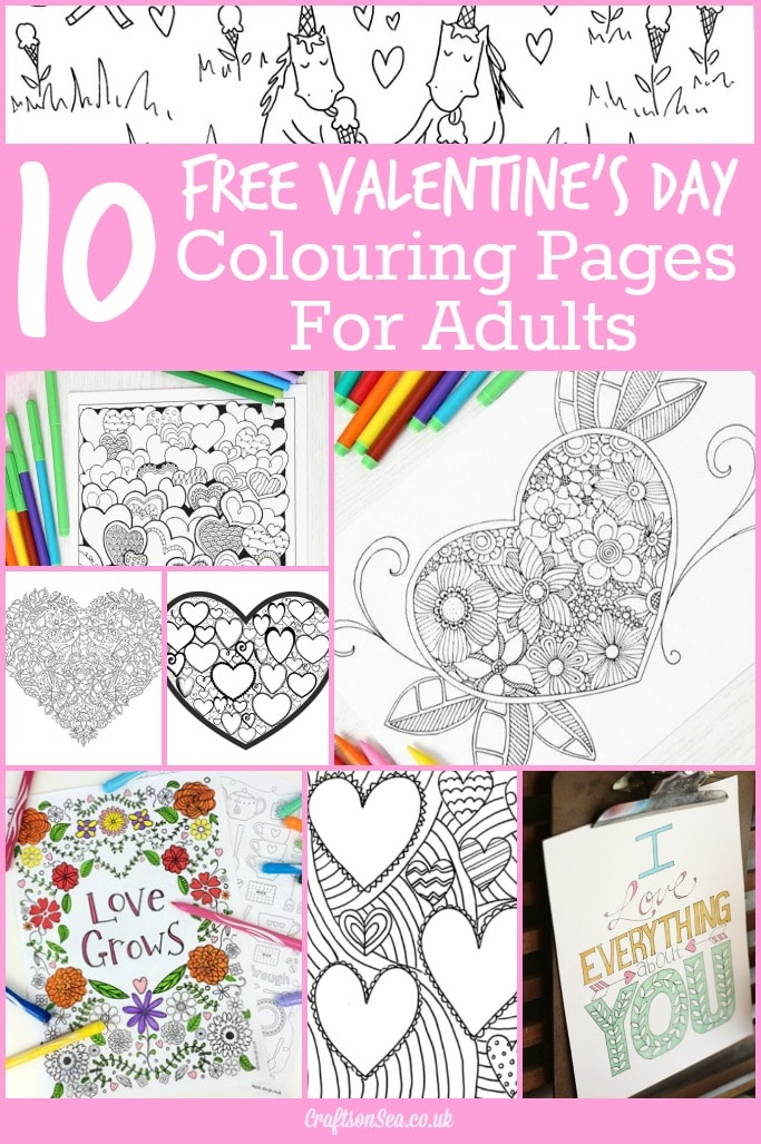 10 Free Valentines Day Colouring Pages for Adults - Crafts on Sea