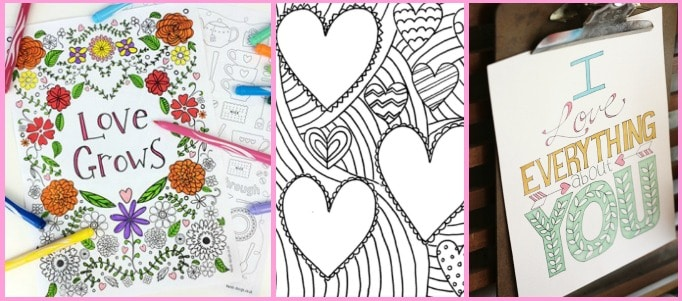 10 Free Valentines Day Colouring Pages For Adults Crafts On Sea
