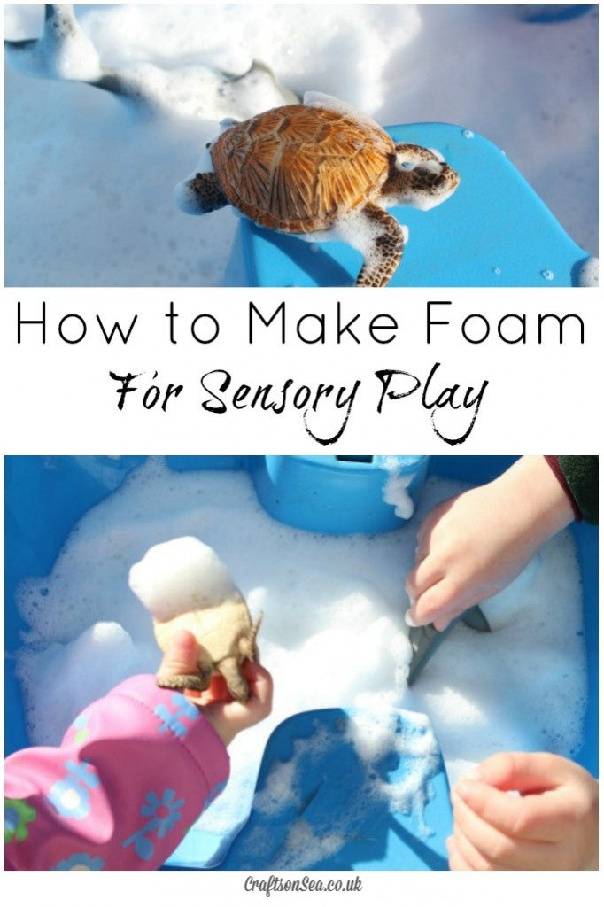 how to make foam for toddlers