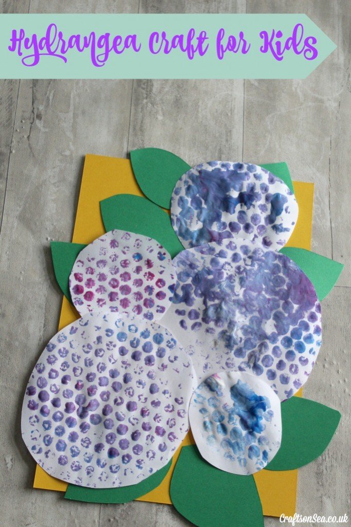 hydrangea craft for kids flower craft