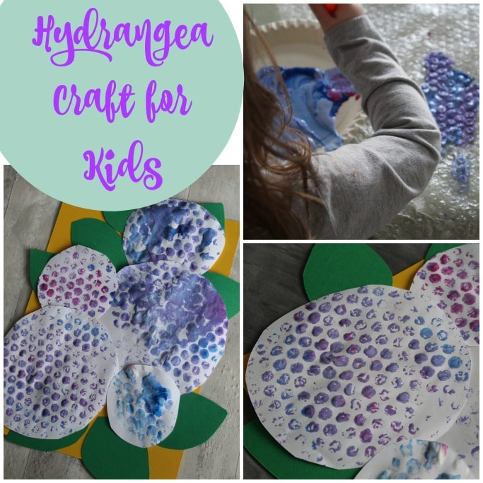 hydrangea flower craft for kids