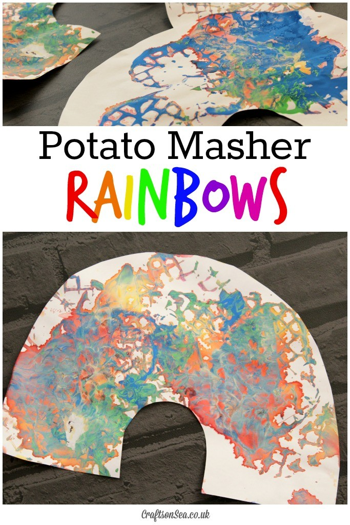 potato masher rainbow craft for kids