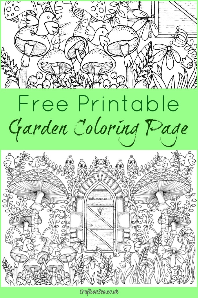 Free Garden Coloring Page For Adults Pin This Image On Pinterest