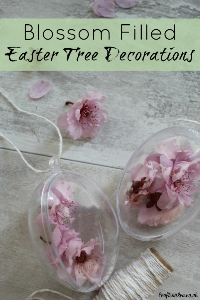 blossom filled easter tree decorations