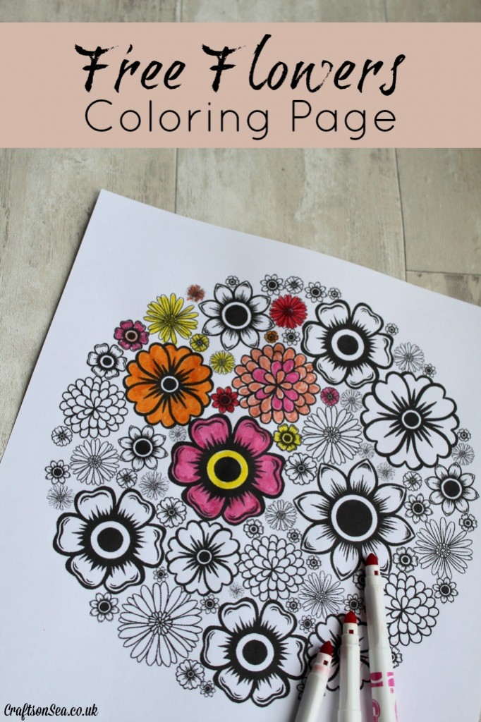 free flowers coloring page for adults