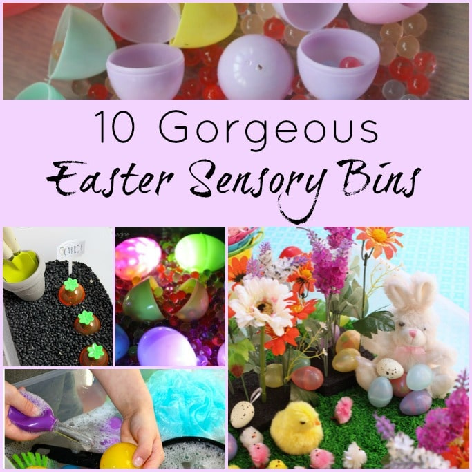 gorgeous easter sensory bins