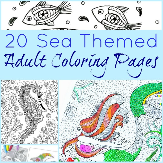 ocean themed adult coloring pages