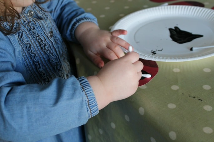 q-tip painting for toddlers