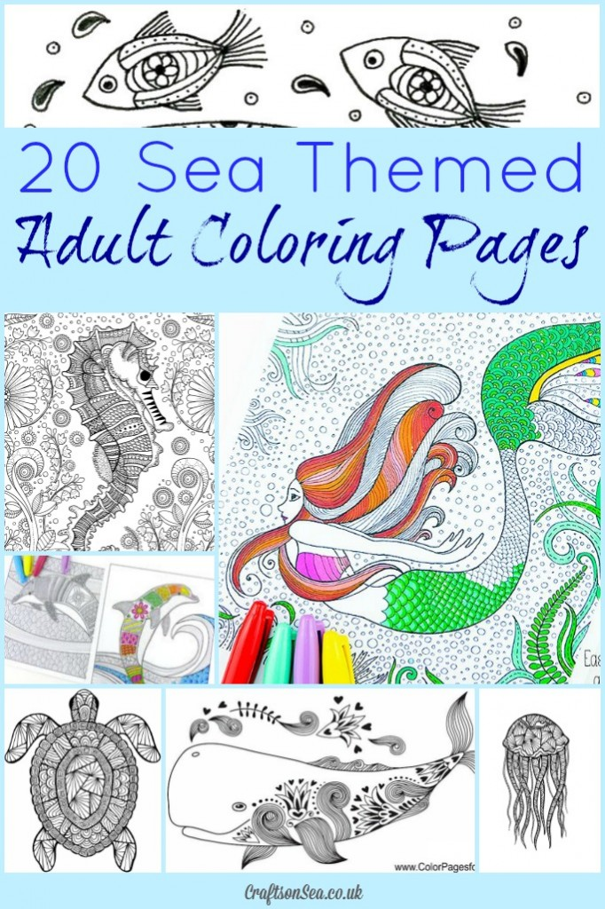 20 Free Sea Themed Adult Coloring