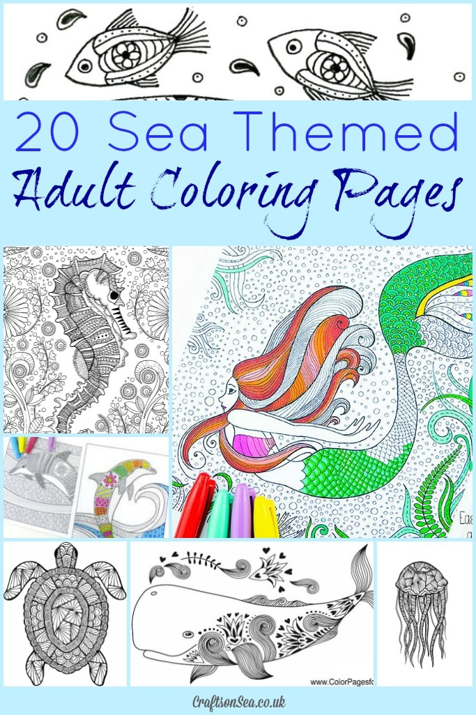 20 Free Sea Themed Adult Coloring Pages Crafts On Sea