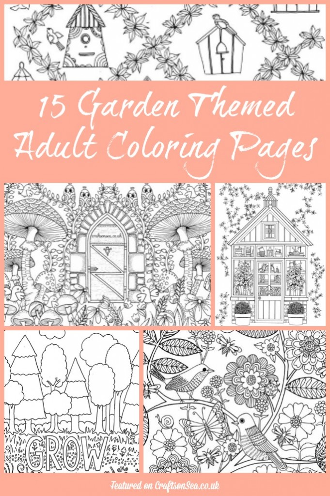 Garden Themed Adult Coloring Pages