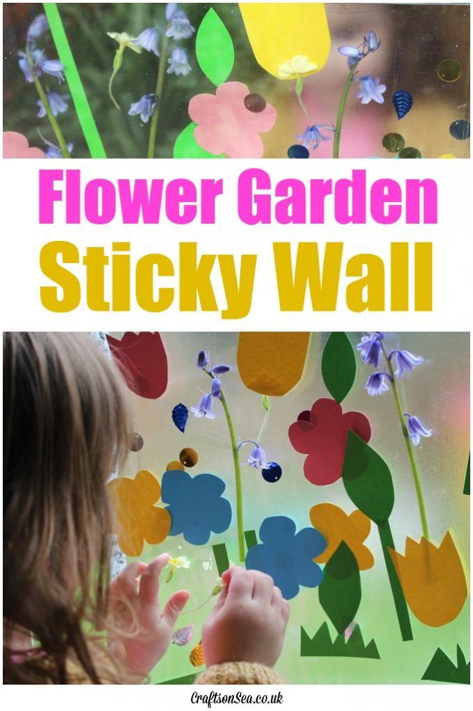 flower garden sticky wall