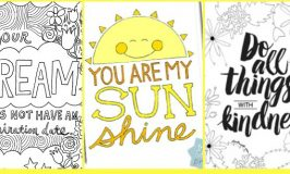 10 Free Coloring Pages for Adults: Quotes