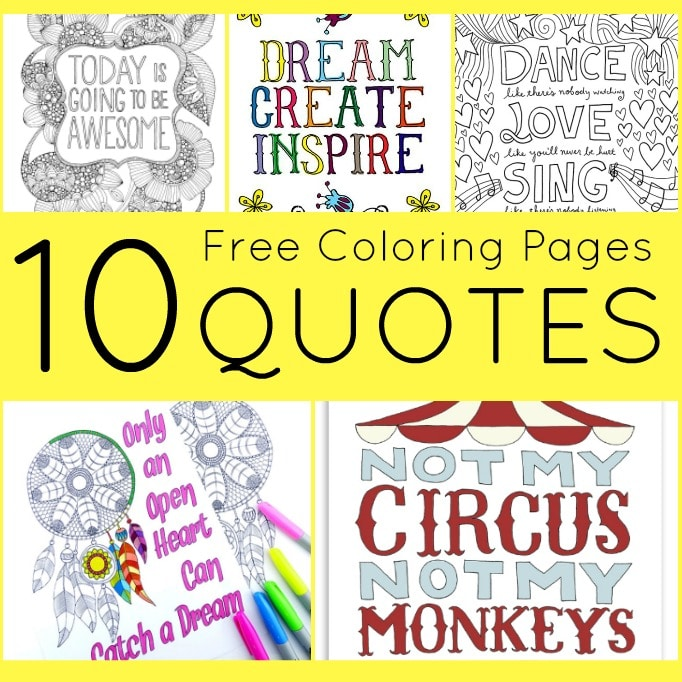 free coloring pages for adults quotes