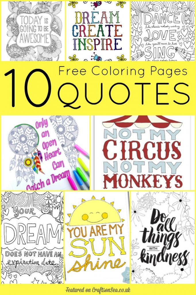 free coloring pages quotes
