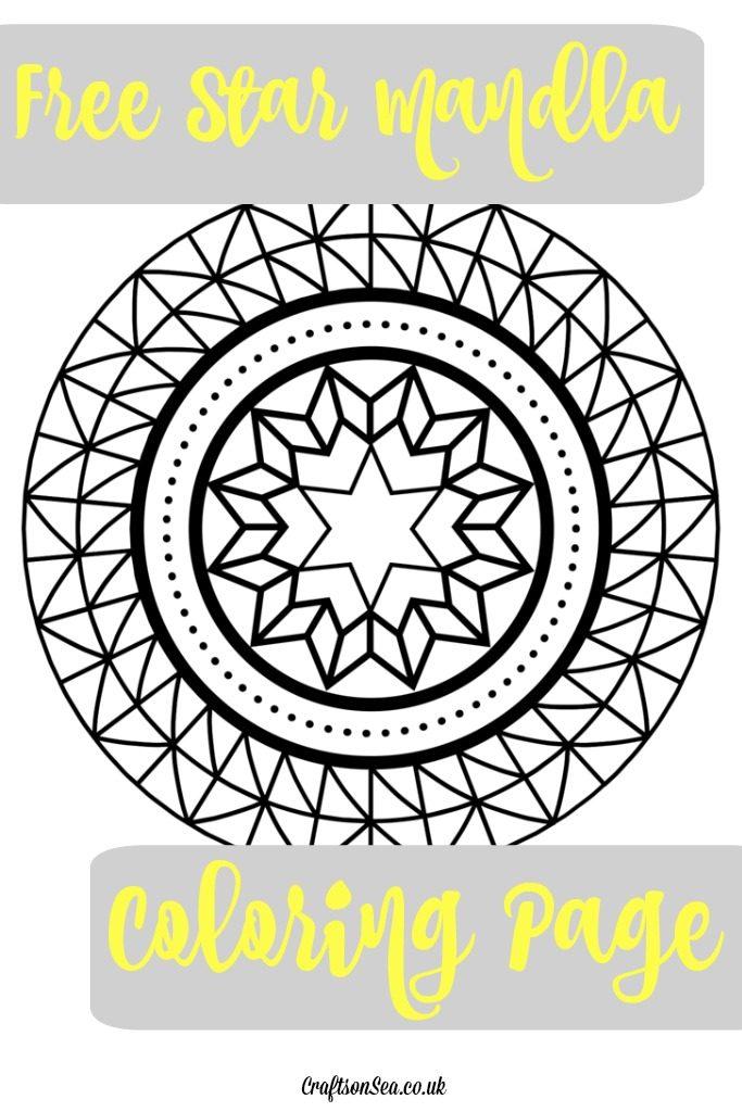free star mandala coloring page