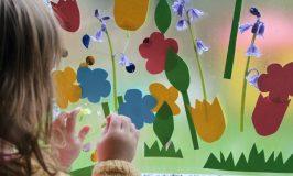 Flower Garden Sticky Wall