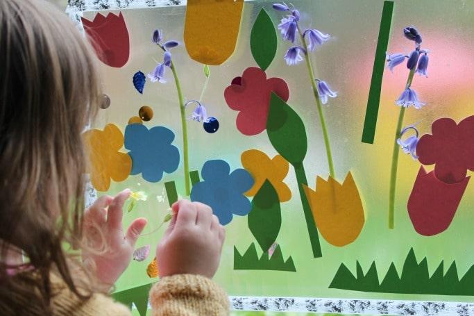 sticky flower garden activity