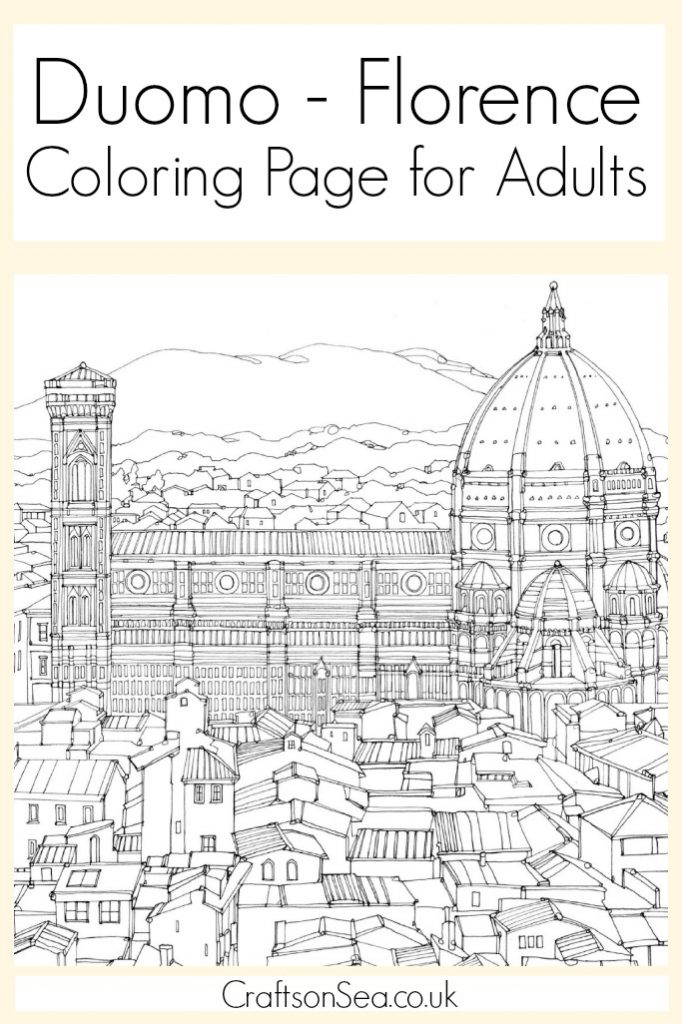 Duomo Florence Coloring Page for Adults