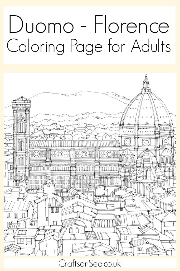 Duomo Florence Coloring Page