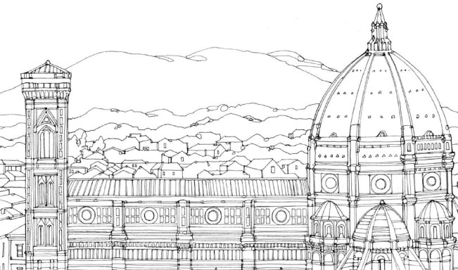 Duomo Florence Coloring Page Crafts On Sea