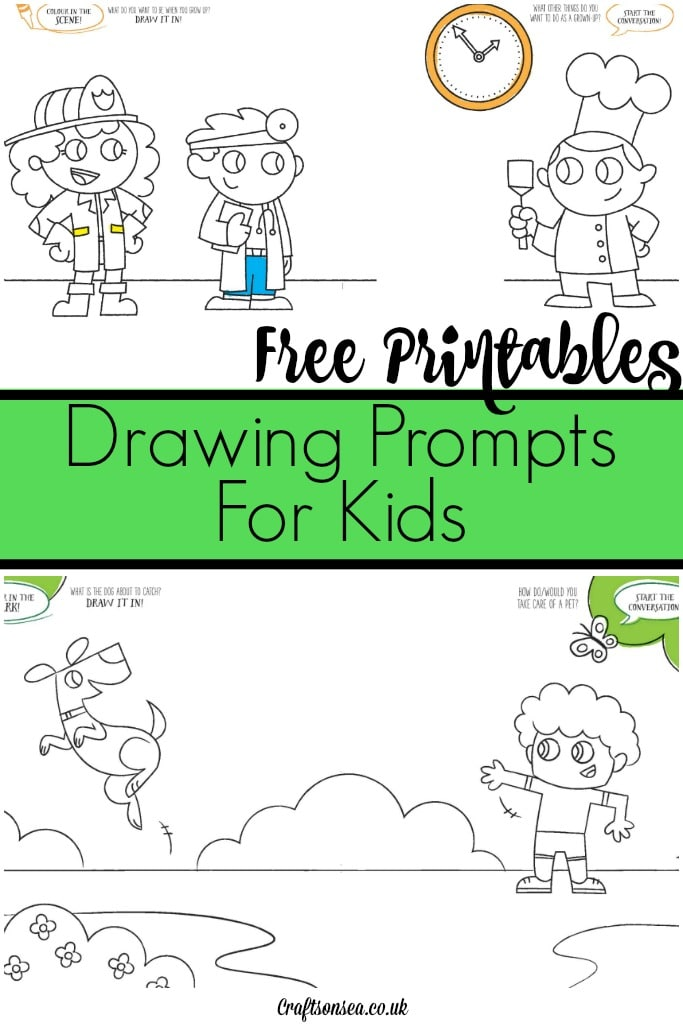 Free Drawing Prompts for Kids and Adults - Crafts on Sea