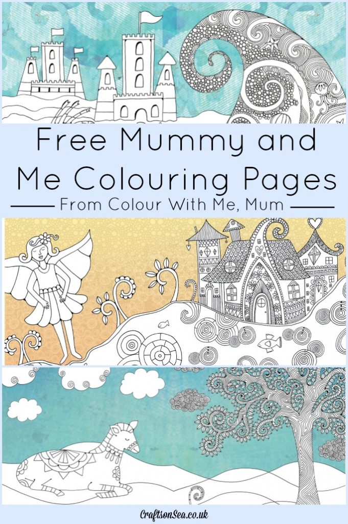 free mummy and me colouring pages