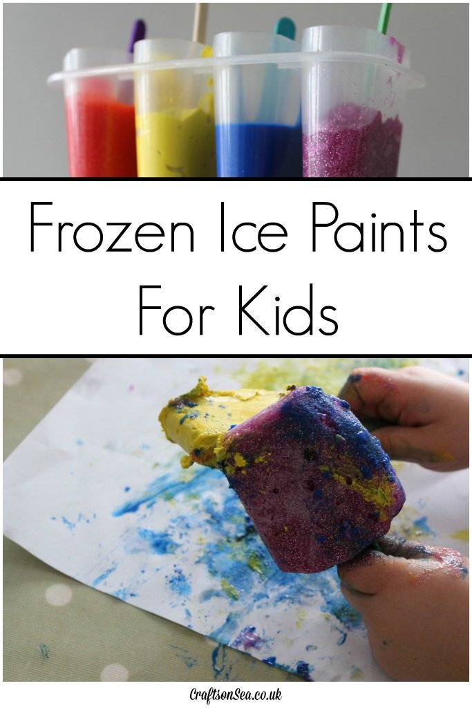 frozen ice paints kids activity
