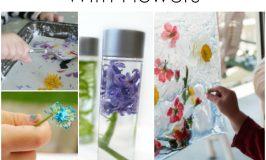 sensory play ideas with flowers